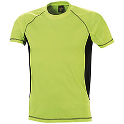 T-Shirt uomo Sport Dry Skin Yellow Black