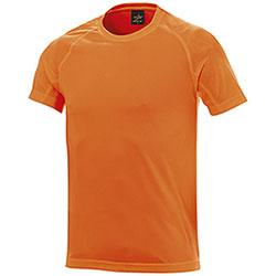 T-Shirt uomo Sport Nek Dry Skin Orange