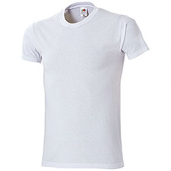 T-Shirt Fruit of the Loom White Taglie Forti