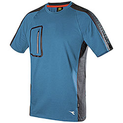 T-Shirt Diadora Utility Cross Organic Celestial Blu