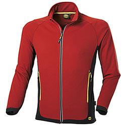 Felpa uomo Diadora Utility Sweat FZ Trail Rosso