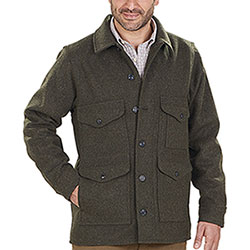Giacca uomo Filson Mackinaw Wool Cruiser Forest Green