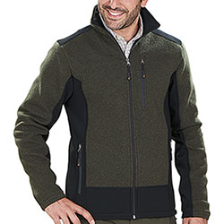Giacca caccia Kalibro WoolWind Green Mélange Softshell Black