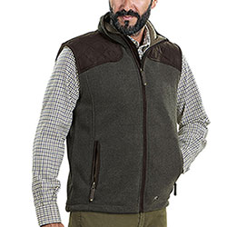 Gilet pile Seeland William Fleece Olive-Grey