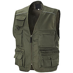 Gilet Multitasche New Barracuda Mushroom Green