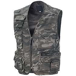 Gilet Multitasche New Barracuda Mushroom Camo Grey