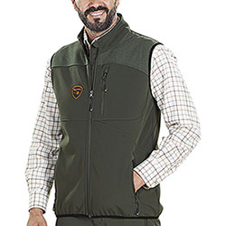 Gilet da caccia Kalibro Game Hunt Softshell Green