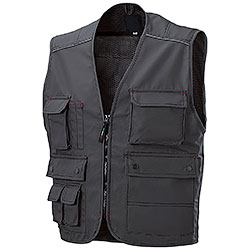 Gilet da Lavoro Professional Multitasche Dark Grey