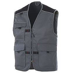 Gilet  da Lavoro Big Pockets Grey