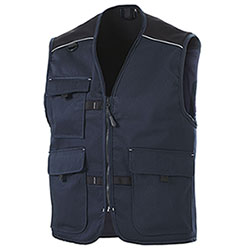 Gilet  da Lavoro Professional Big Pockets Navy