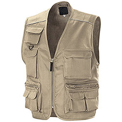 Gilet multitasche New Barracuda Beige