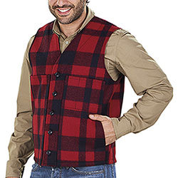 Gilet Filson Mackinaw Wool Red Black