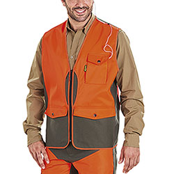 Gilet Kalibro Tracker Green Orange HV Canvas e Cordura