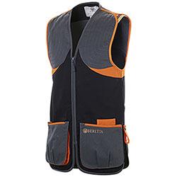Gilet da Tiro Beretta Full Cotton Black Orange