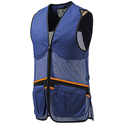 Gilet Tiro Beretta Full Mesh Blu Orange