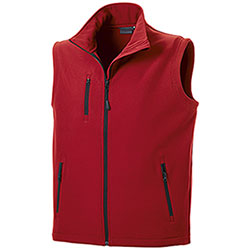 Gilet Softshell uomo Vision Red