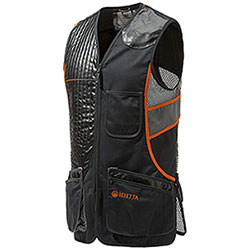 Gilet Tiro Beretta Sporting Full Black Grey and Orange