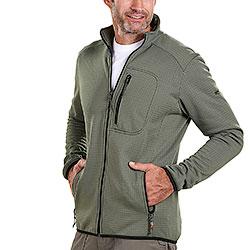 Maglia uomo Kalibro Fleece Microsquares Green