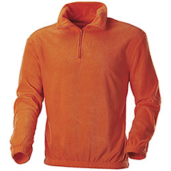 Maglia Pile Arancio Alta Visibilità