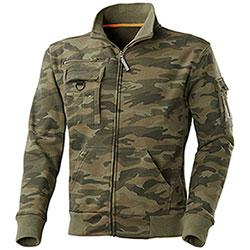 Felpa Full Zip  Camouflage Green