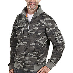 Felpa Full Zip  Camouflage Grey