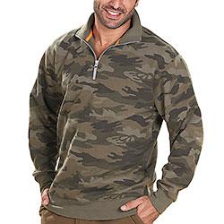Felpa Lupetto Mezza Zip Camouflage Green Grammatura 280 g/m²