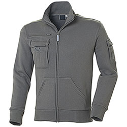 Felpa uomo Full Zip Multiutility Dark Grey