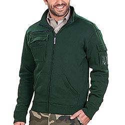 Felpa uomo Full Zip Multiutility Green