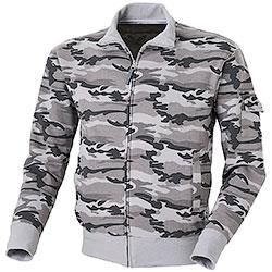 Felpa Camouflage Grey Full Zip