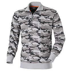 Felpa Lupetto Mezza Zip Camouflage Grey Grammatura 280 g/m²