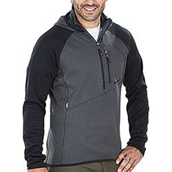 Maglia con Cappuccio Kalibro Microsquares Half Zip Grey Black