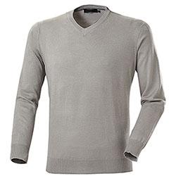 Pullover uomo Leggero Hanzery Collo a V Grey