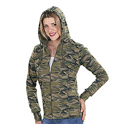 Felpa con cappuccio Donna Fit French Terry Sand Camouflage