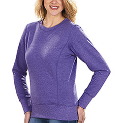 Felpa Donna Girocollo French Terry Heather Purple
