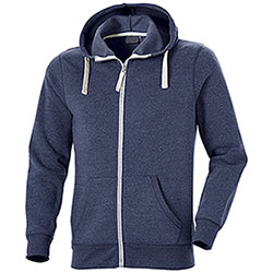 Felpa con cappuccio Full Zip Cotton Trend Blu
