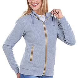 Felpa Donna con cappuccio Vega Full Color Zip Grey Mélange