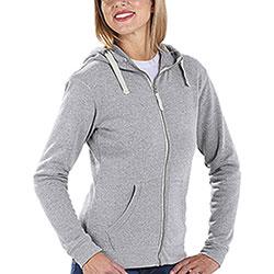 Felpa Donna con cappuccio Full Zip Pro Light Grey