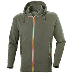 Felpa con cappuccio Vega Evolution Full Zip Army Green