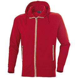 Felpa con cappuccio Vega Evolution Full Zip Red