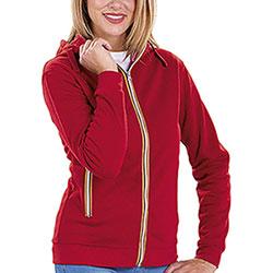 Felpa Donna con cappuccio Vega Full Color Zip Red
