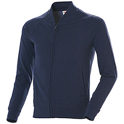 Felpa uomo French Terry Fruit of the Loom Full Zip Navy