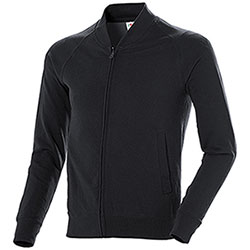 Felpa uomo French Terry Fruit of the Loom Full Zip Black