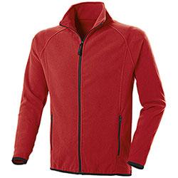 Pile uomo Nordic Red Full Zip
