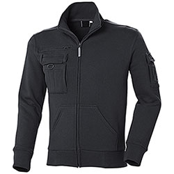 Felpa uomo Full Zip Multiutility Black