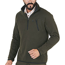 Maglia Seeland Hawker Fleece Piquet Knit Pine Green