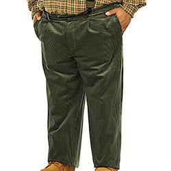 Pantaloni taglie forti  Velluto Green