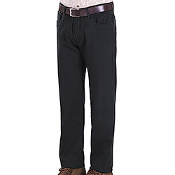Pantaloni Kalibro 5 tasche   Cotton Black