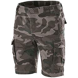 Bermuda uomo Multipockets Camouflage Grey