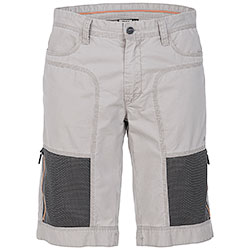 Bermuda Jeep ® Zipped Mesh Pockets Light Grey original