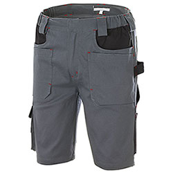 Bermuda Work Professional Big Pockets Grey